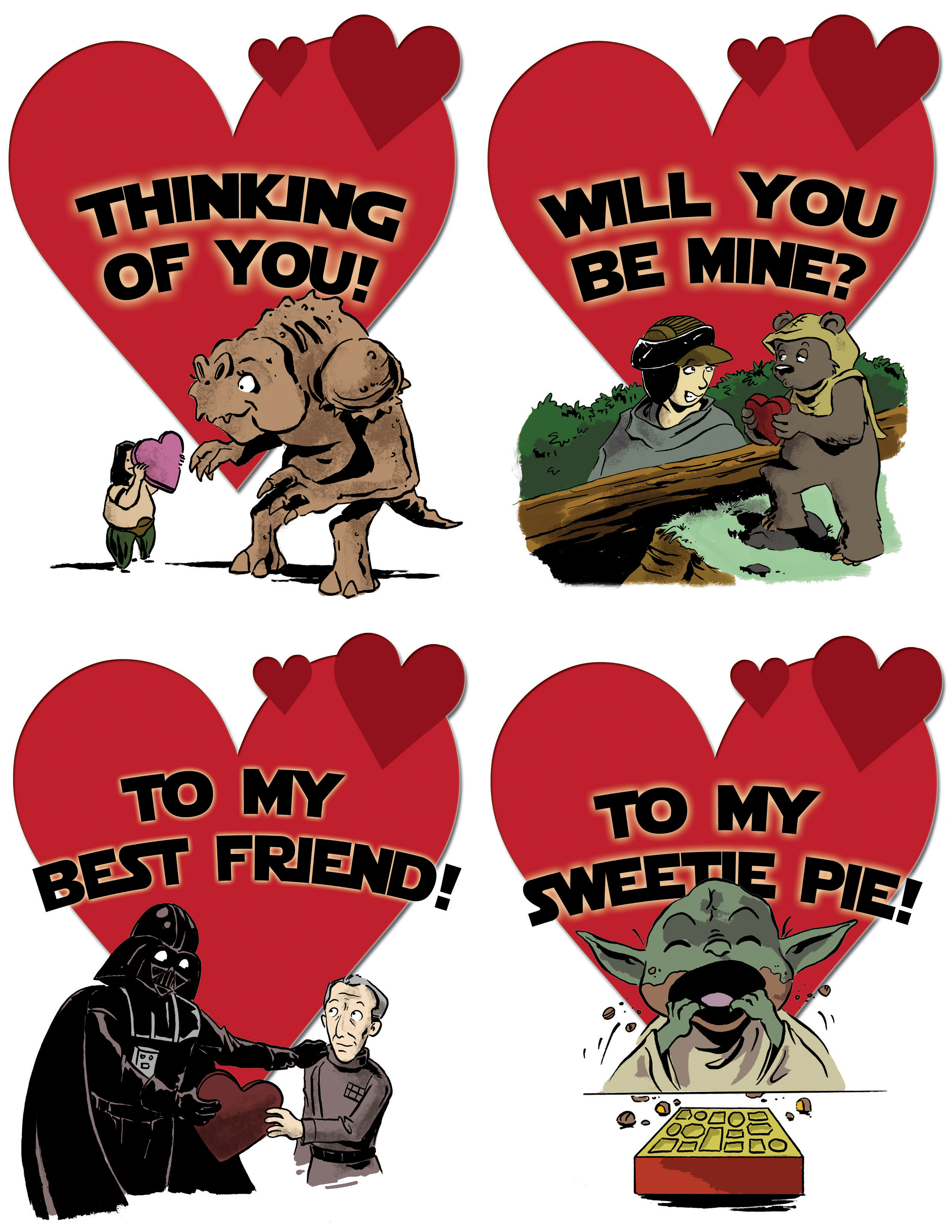 Printable Star Wars Valentineu0027s Day Cards ...